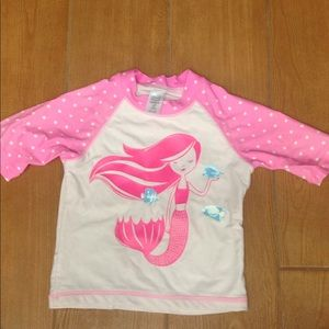 Mermaid Swim Shirt size 4T
